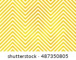 watercolor yellow stripes... | Shutterstock . vector #487350805