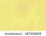 watercolor yellow stripes...   Shutterstock . vector #487350805