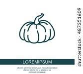 web line icon. pumpkin   Shutterstock .eps vector #487351609