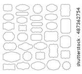 Stock vector vintage frames set vintage frames vector clipart bundle 487362754