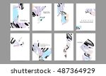set of hand drawn universal... | Shutterstock .eps vector #487364929