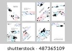 set of hand drawn universal... | Shutterstock .eps vector #487365109