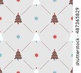 christmas pattern  seamless... | Shutterstock .eps vector #487365829