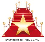 star on red carpet. vector... | Shutterstock .eps vector #48736747