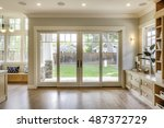 modern living room  large... | Shutterstock . vector #487372729