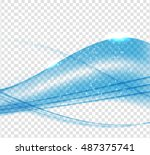 abstract blue wave set on... | Shutterstock .eps vector #487375741