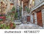 gourdon  france   october 31 ... | Shutterstock . vector #487383277
