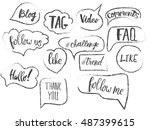 vector speech bubbles with...
