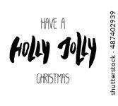 decorative xmas lettering.... | Shutterstock . vector #487402939
