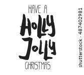 decorative xmas lettering.... | Shutterstock . vector #487402981