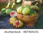 Fresh Figs In Wicker Basket....