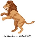 graphic illustration of an... | Shutterstock .eps vector #487406869
