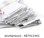 letter mails collection | Shutterstock . vector #487411441