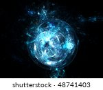 abstract blue background   Shutterstock . vector #48741403