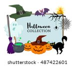 Vector Set Of Halloween Hand...