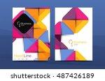 business company profile...   Shutterstock .eps vector #487426189