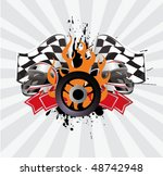 racing sign on the ray... | Shutterstock .eps vector #48742948