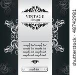 vintage background | Shutterstock .eps vector #48742981