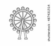 ferris wheel icon in outline... | Shutterstock . vector #487431514