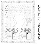 Black And White Worksheet On A...