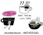 vector illustration   doodle... | Shutterstock .eps vector #487455181