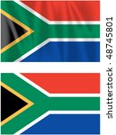 flag of republic of south africa | Shutterstock . vector #48745801