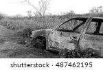 Burned Car Abandoned After...