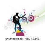 silhouette music men play a...