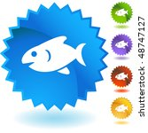 fish web button isolated on a... | Shutterstock .eps vector #48747127