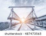 bridge under construction | Shutterstock . vector #487473565