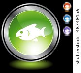 fish web button isolated on a... | Shutterstock .eps vector #48748456