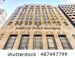 Small photo of New York City - September 11, 2016: American Stock Exchange in Lower Manhattan, New York City