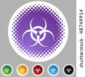 biohazard isolated on a... | Shutterstock .eps vector #48749914