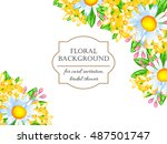 invitation with floral... | Shutterstock .eps vector #487501747