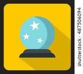 future crystal ball icon logo.... | Shutterstock .eps vector #487506094