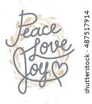 peace  love  joy christmas... | Shutterstock . vector #487517914