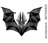 bat. low poly bat . low poly... | Shutterstock .eps vector #487520425
