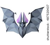 bat. low poly bat . low poly... | Shutterstock .eps vector #487520437