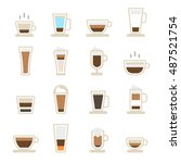 coffee icons set | Shutterstock .eps vector #487521754