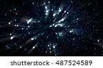 a soft and blurred particle... | Shutterstock . vector #487524589