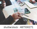 business team present. photo... | Shutterstock . vector #487530271