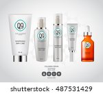 lotion packaging set template... | Shutterstock .eps vector #487531429