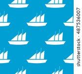 seamless sail background | Shutterstock .eps vector #487536007