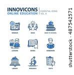 online education   modern thin... | Shutterstock . vector #487542571