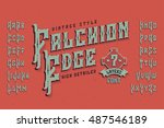 vintage style font. retro... | Shutterstock .eps vector #487546189
