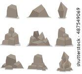 Vector Of Flat Stones Set...