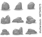 set of stones element vector... | Shutterstock .eps vector #487549075