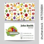 organic fruits farmer business... | Shutterstock .eps vector #487550884