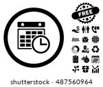 timetable icon with free bonus... | Shutterstock .eps vector #487560964