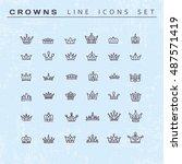vector heraldic elements design.... | Shutterstock .eps vector #487571419